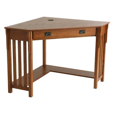 Hon Company Oak Desk - Mission Oak Corner Computer Desk