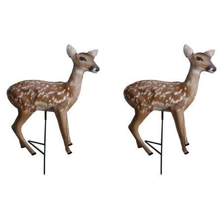 Primos Hunting Fawn Standing Motion Whitetail Deer Decoy for Predators (2