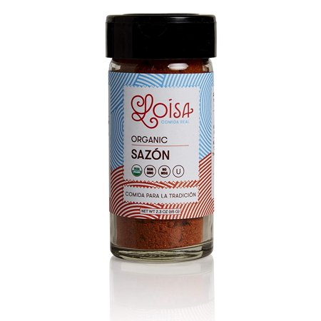 Loisa Sazon Seasoning, USDA Organic, Non-GMO, No-MSG, No Preservatives, No Artificial Coloring, No Artificial Flavors, 2.3oz