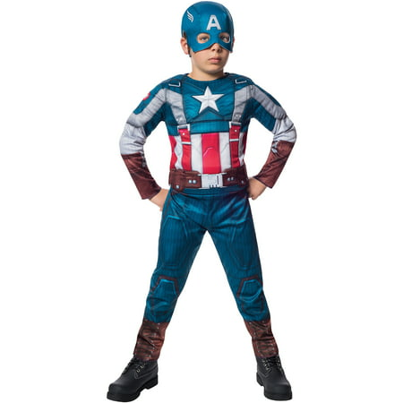 Deluxe Retro Captain America Winter Soldier Child Halloween Costume (Wiener Halloween Ball)