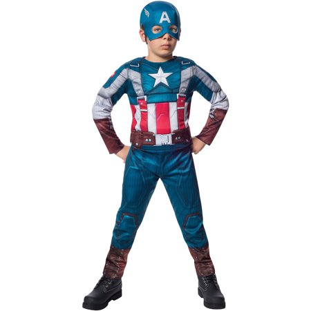 Deluxe Retro Captain America Winter Soldier Child Halloween Costume](Captain America Halloween Costume Kids)