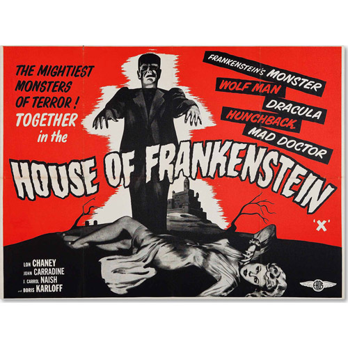 "Trademark Fine Art ""House of Frankenstein"" Canvas Art by Vintage Apple Collection"