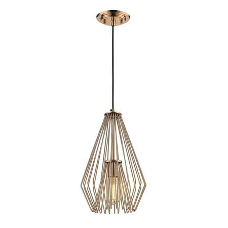 Solid Copper Designer Pendant - Z-Lite Quintus 1-Light Mini Pendant, Copper
