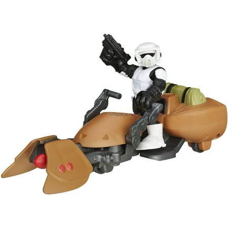 Playskool Heroes Star Wars Galactic Heroes Speeder Bike and Scout Trooper Action