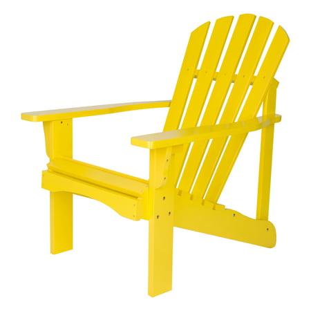Shine Company Rockport Adirondack Chair - Lemon Yellow