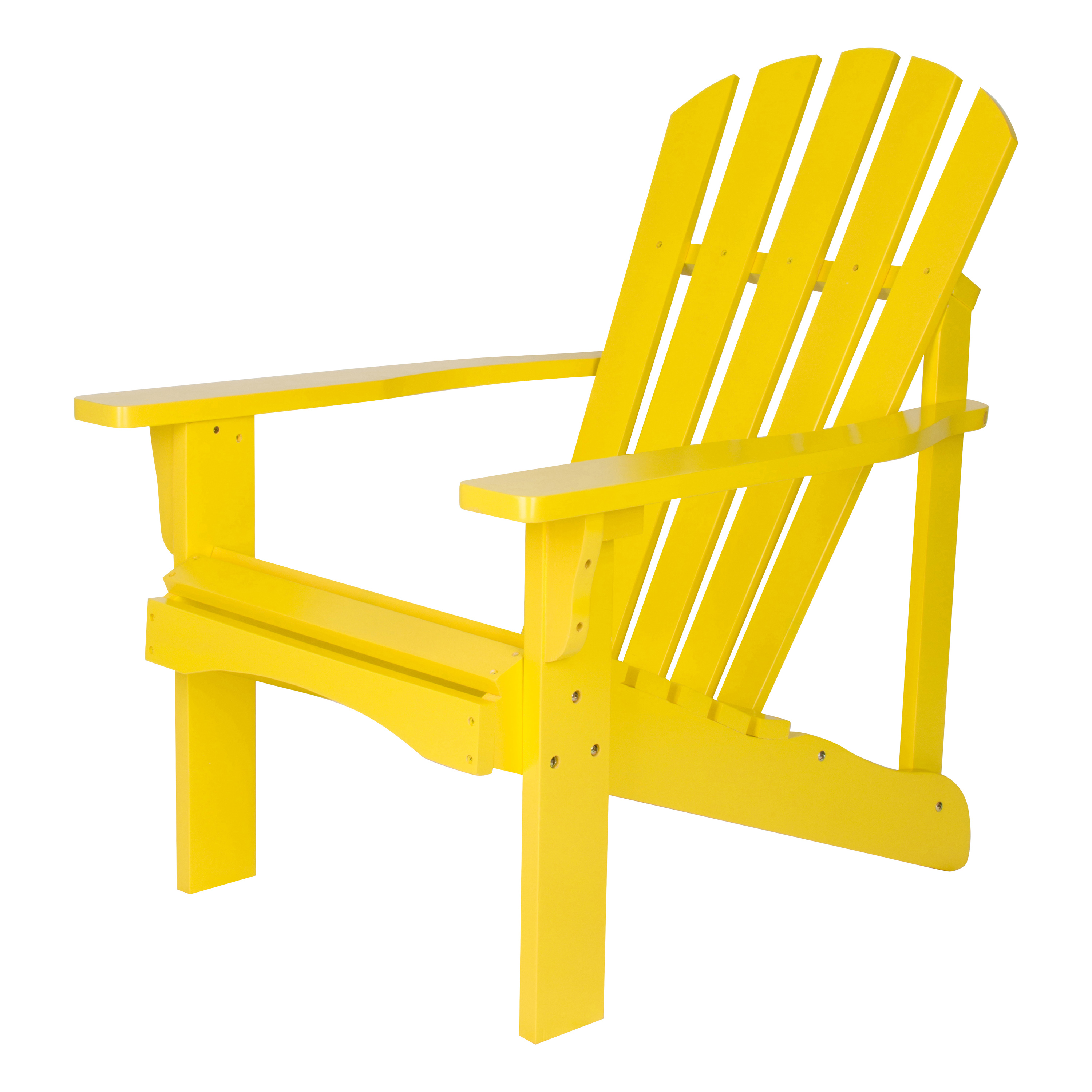 Shine Company Rockport Adirondack Chair - Lemon Yellow