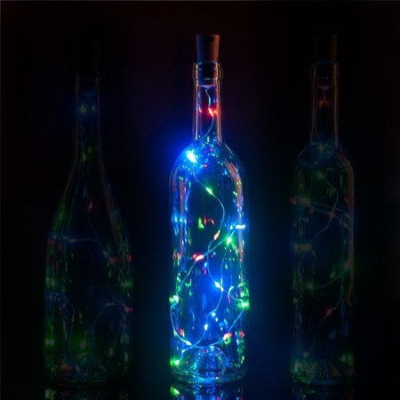 Fantado 20-LED RGB Cork Wine Bottle Lamp Fairy String Light Stopper, 38-Inch by PaperLanternStore
