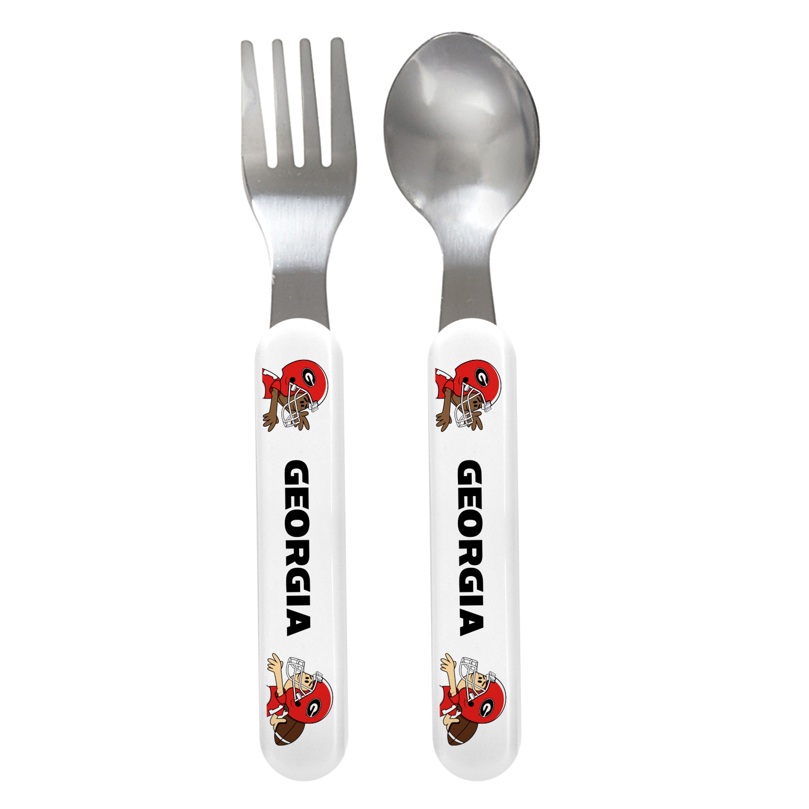NCAA Georgia Baby Fork & Spoon Set by Baby Fanatic