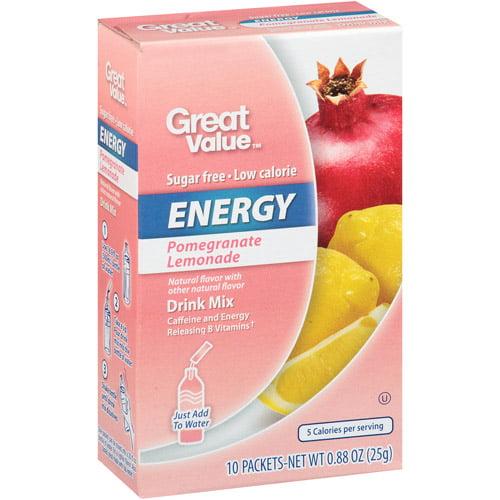 Great Value Pomegranate Lemonade Energy Drink Mix, .88 oz, 10ct