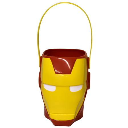 Halloween Iron Man Figural Plastic Pail - Personalized Halloween Pails