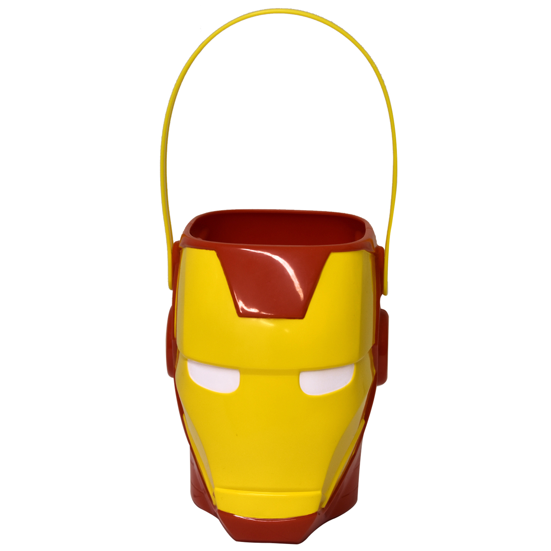 Halloween Iron Man Figural Plastic Pail