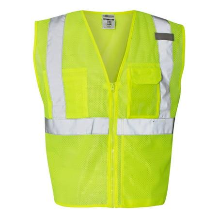 ML Kishigo Clear ID Vest with Zipper Closure 1532 1533