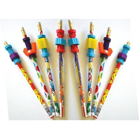Finger Fidget Pencils with Fidget Toppers -Set of 8 Pencils with Fidgets - Pencil Fidgets from Express PencilsTM, Pencils with Fidget Topper, Durable.., By Express - Pencil Fidgets