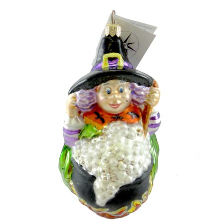 Christopher Radko SOUPS ON Blown Glass Ornament Halloween Witch Brew (Halloween Brew Alcoholic)