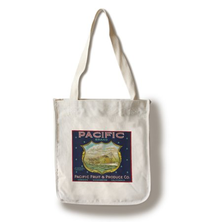Pacific - World War I Battleship - Apple Crate Label (100% Cotton Tote Bag - Reusable)