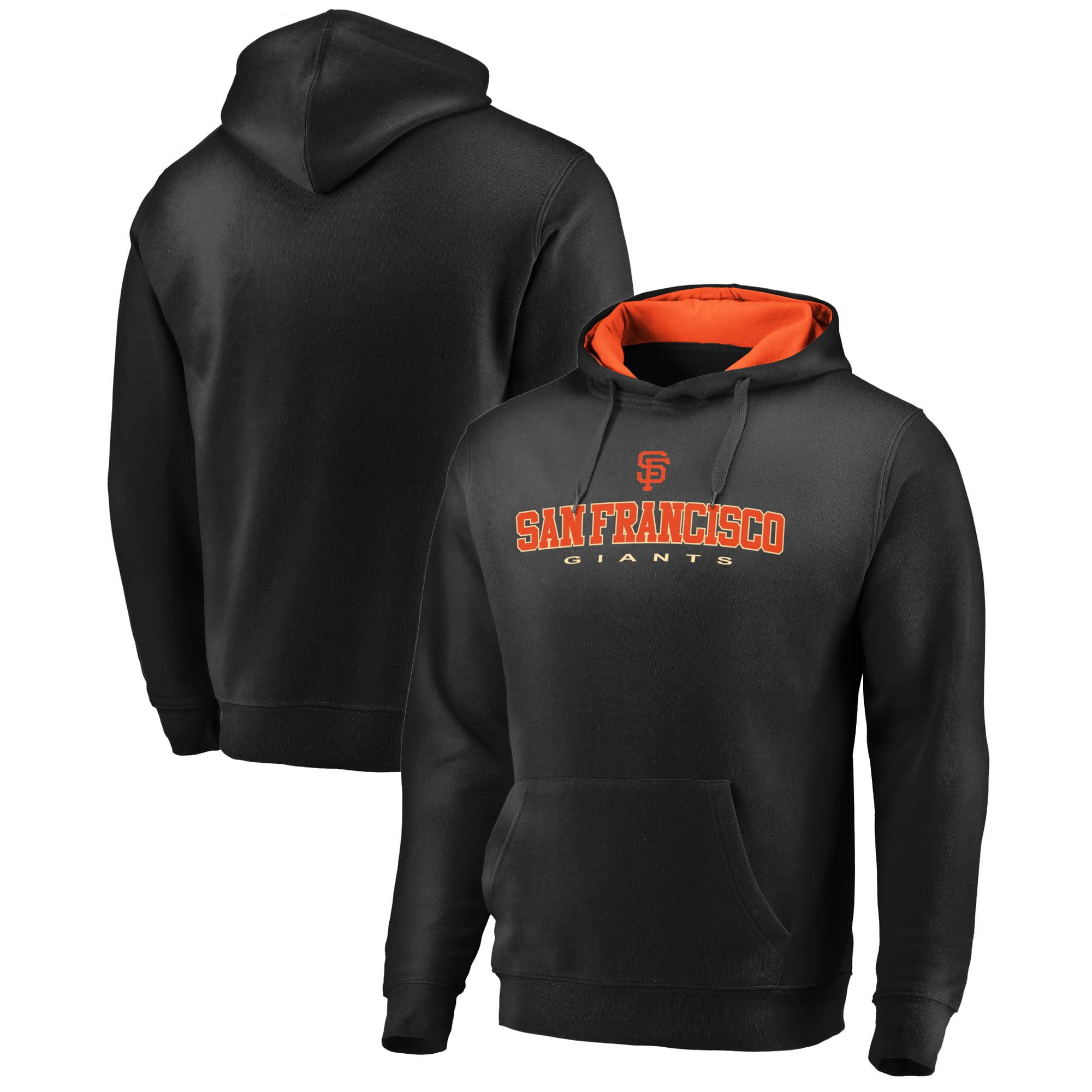 San Francisco Giants Fanatics Branded Big & Tall Block Lineup Zone Fleece Pullover Hoodie - Black