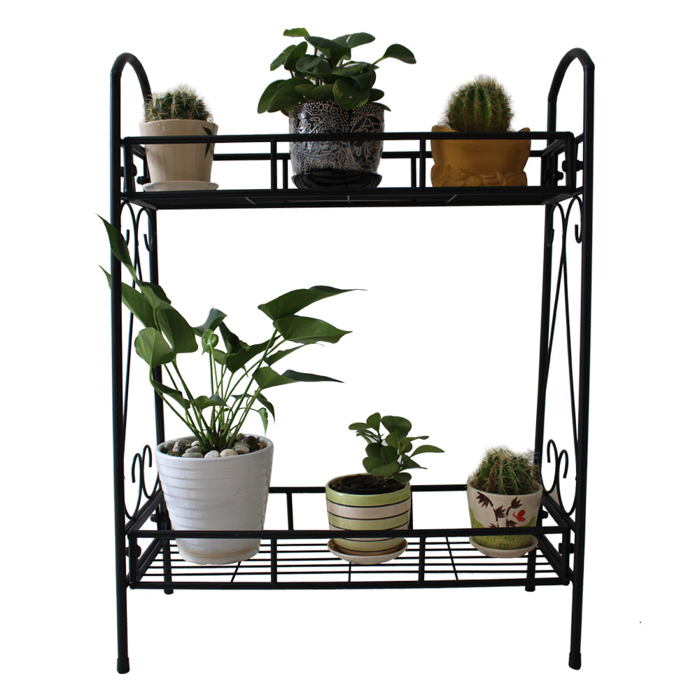 Ktaxon Two Tier Metal Plant Stand Garden Planter Holder Flower Pot Shelf  Rack Display