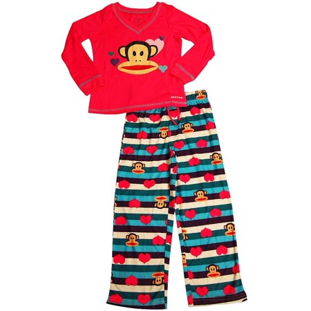 Paul Frank - Little Girls Long Sleeve Pajama Set PINK / Medium