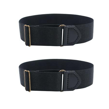 Two Elastic Adjustable Armbands Shirt Garters Sleeve Hold Ups Arm Sleeve Holders ()