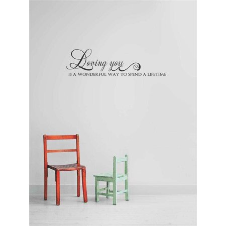 Wall Design Pieces Loving You Is A Wonderful Way To Spend A Lifetime I