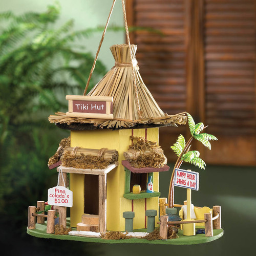Zingz & Thingz Tiki Hut 10 in x 10 in x 9 in Birdhouse by Home Locomotion