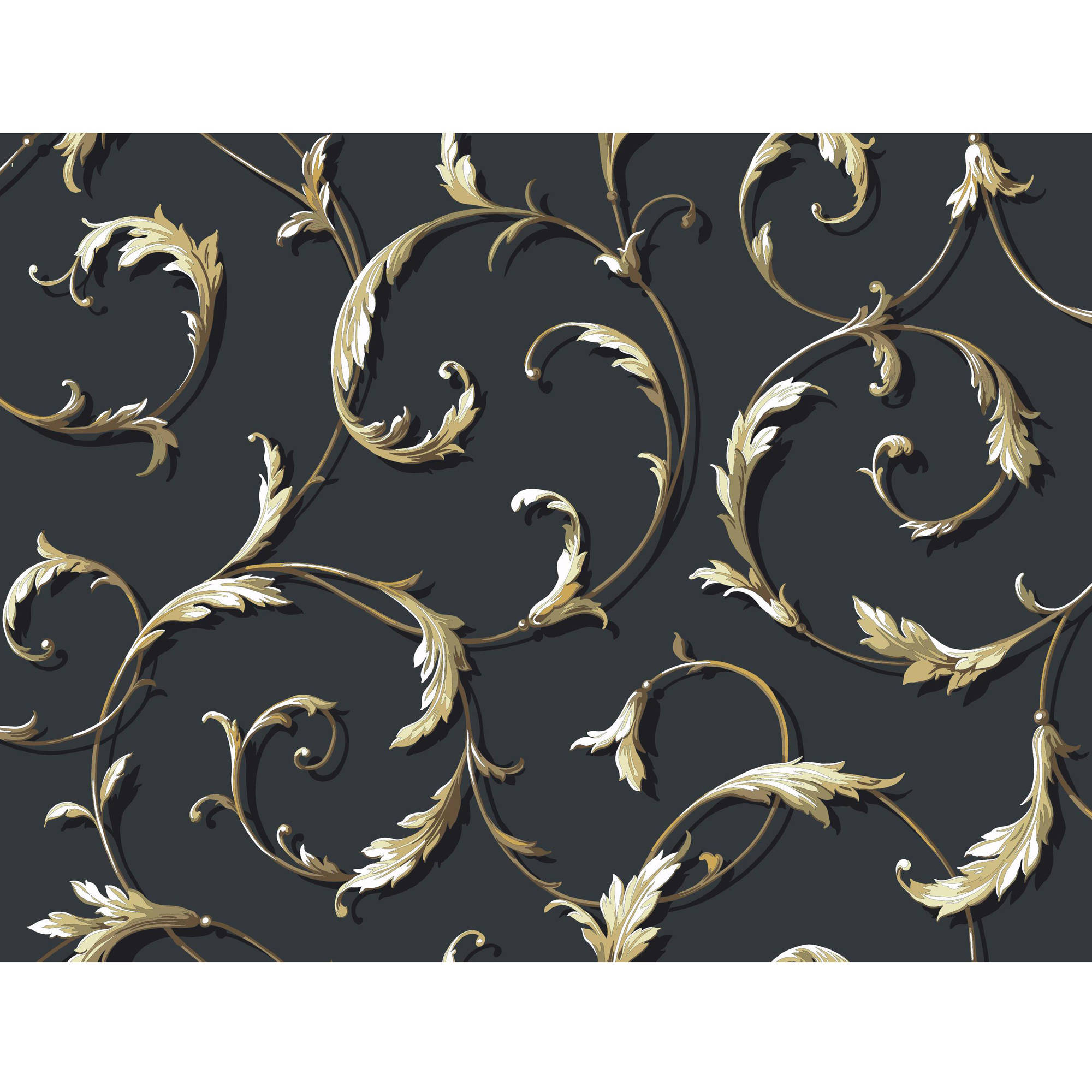 York Wallcoverings  Acanthus Scroll Wallpaper
