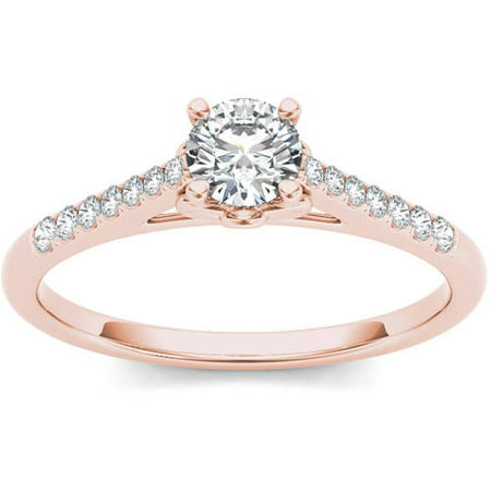 1/2 Carat T.W. Diamond 10kt Rose Gold Solitaire Engagement Ring