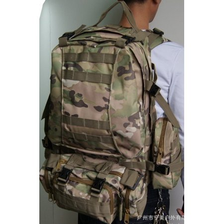 50L Men 3D Molle Assault Tactical Military Rucksack Backpack Outdoor Camping Bag - image 2 of 5