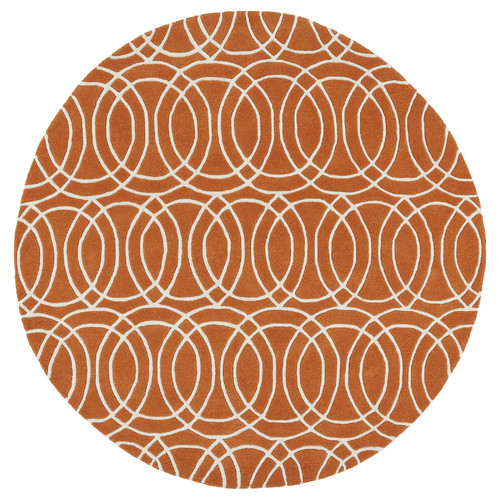 Kaleen Revolution Hand-Tufted Orange / Ivory Area Rug