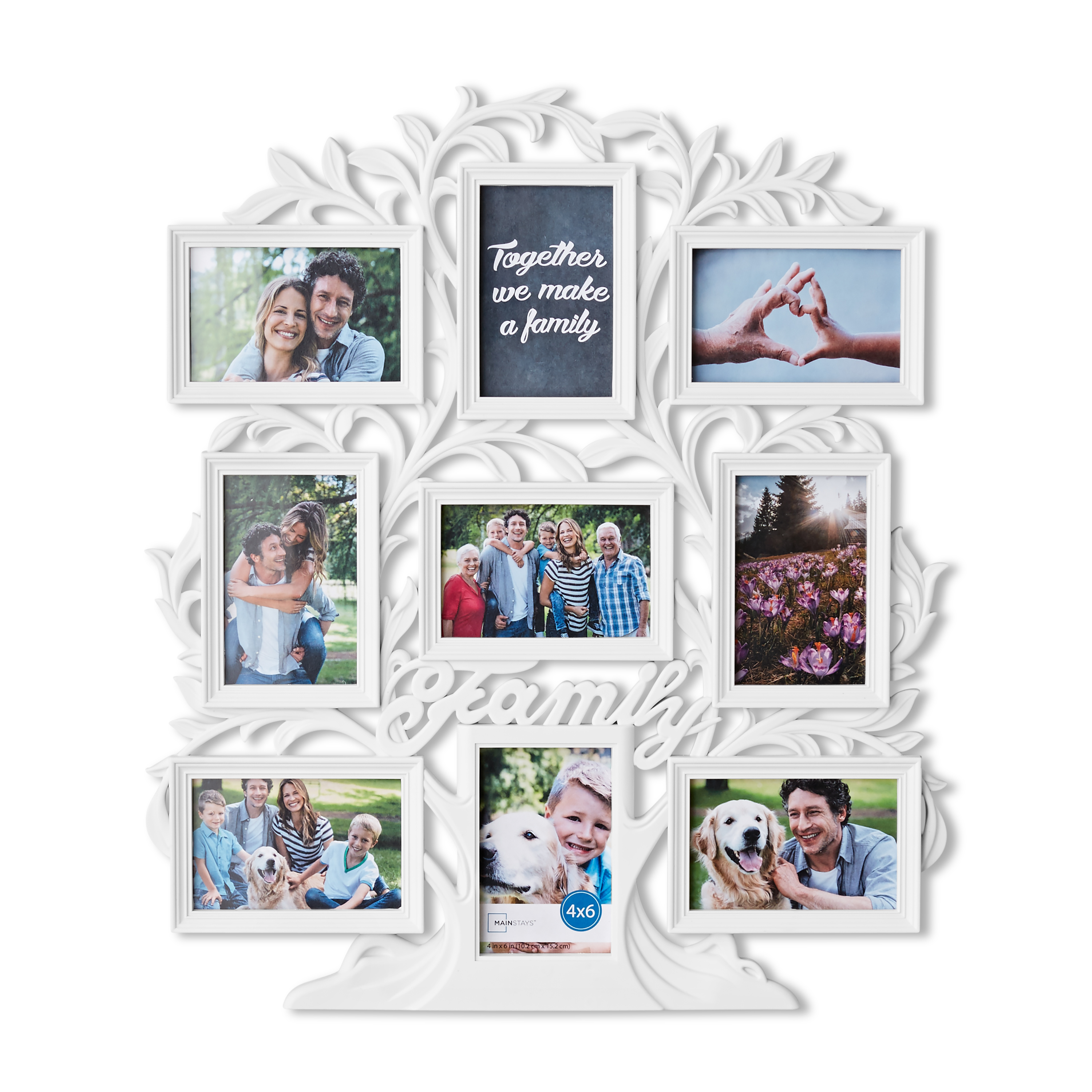 Mainstays 9-Opening Family Tree Wall Collage Picture Frame