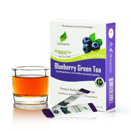 LeCharm Fruit flavor unsweetened Blueberry Green Tea Sachets (10