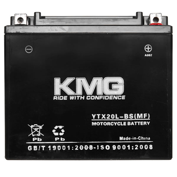 Yamaha 750 TX750 1973-1974 YTX20L-BS Sealed Maintenace Free Battery High Performance 12V SMF OEM Replacement Maintenance Free Powersport Motorcycle ATV Scooter Snowmobile KMG - image 1 de 3