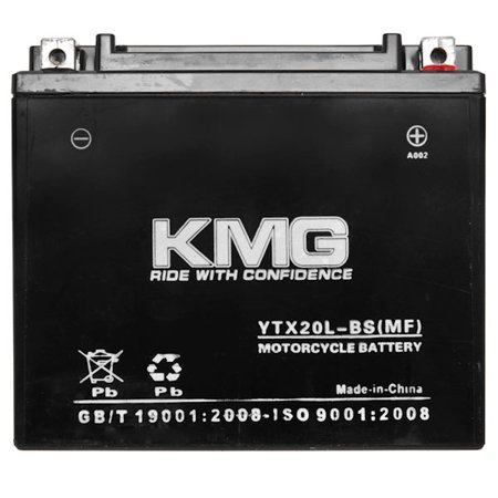 KMG Battery for Polaris 1507 V92TC Touring Cruiser 2002-2006 YTX20L-BS Sealed Maintenace Free Battery High Performance 12V SMF OEM Replacement Powersport - image 1 de 3