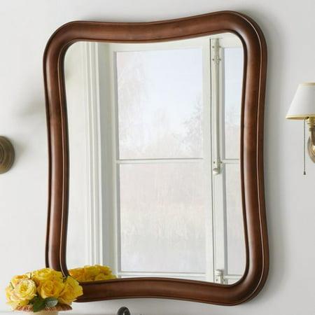 Ronbow Vintage Fancy Solid Wood Framed Bathroom Mirror In Colonial Cherry