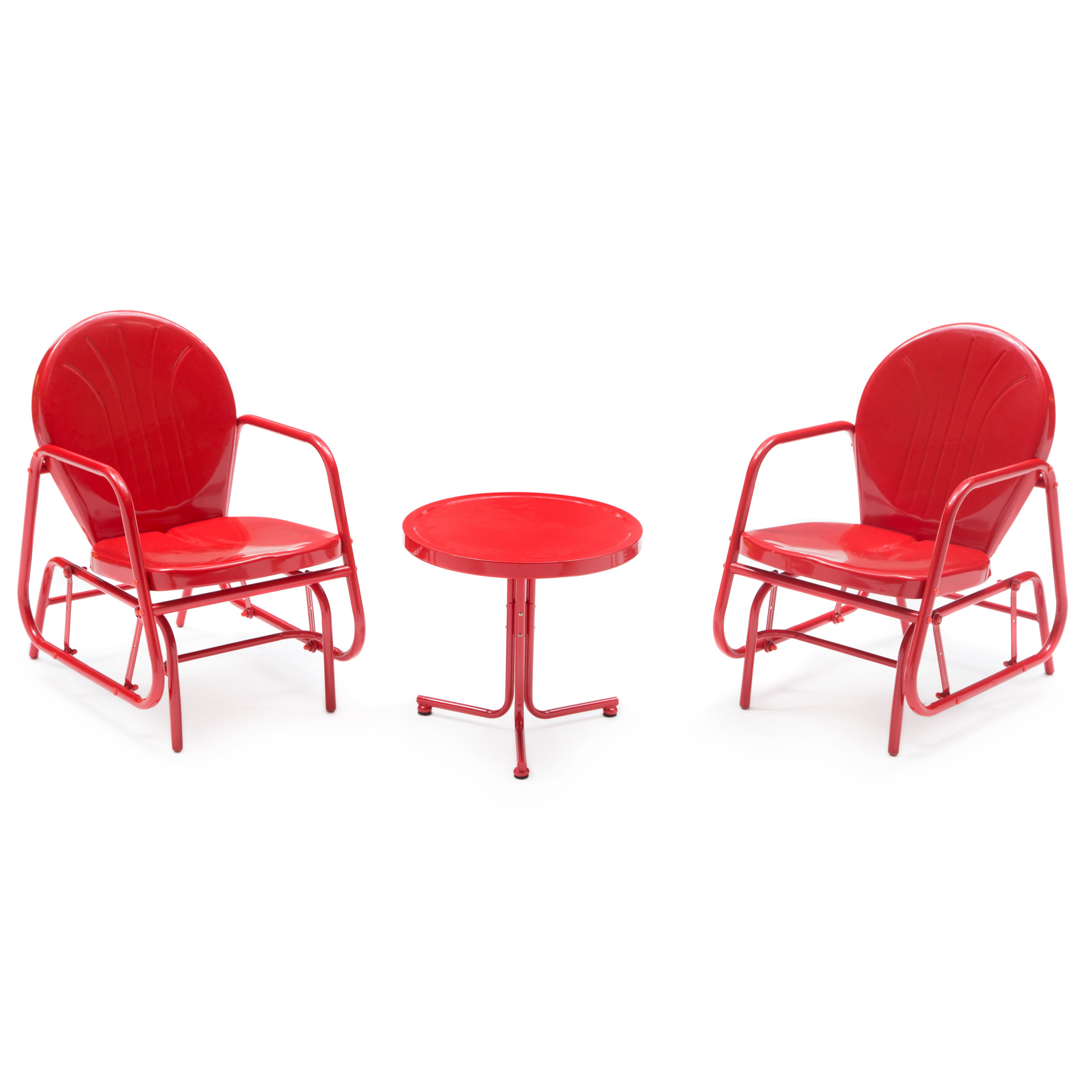 Coral Coast Vintage Retro Single Glider Chat Set by