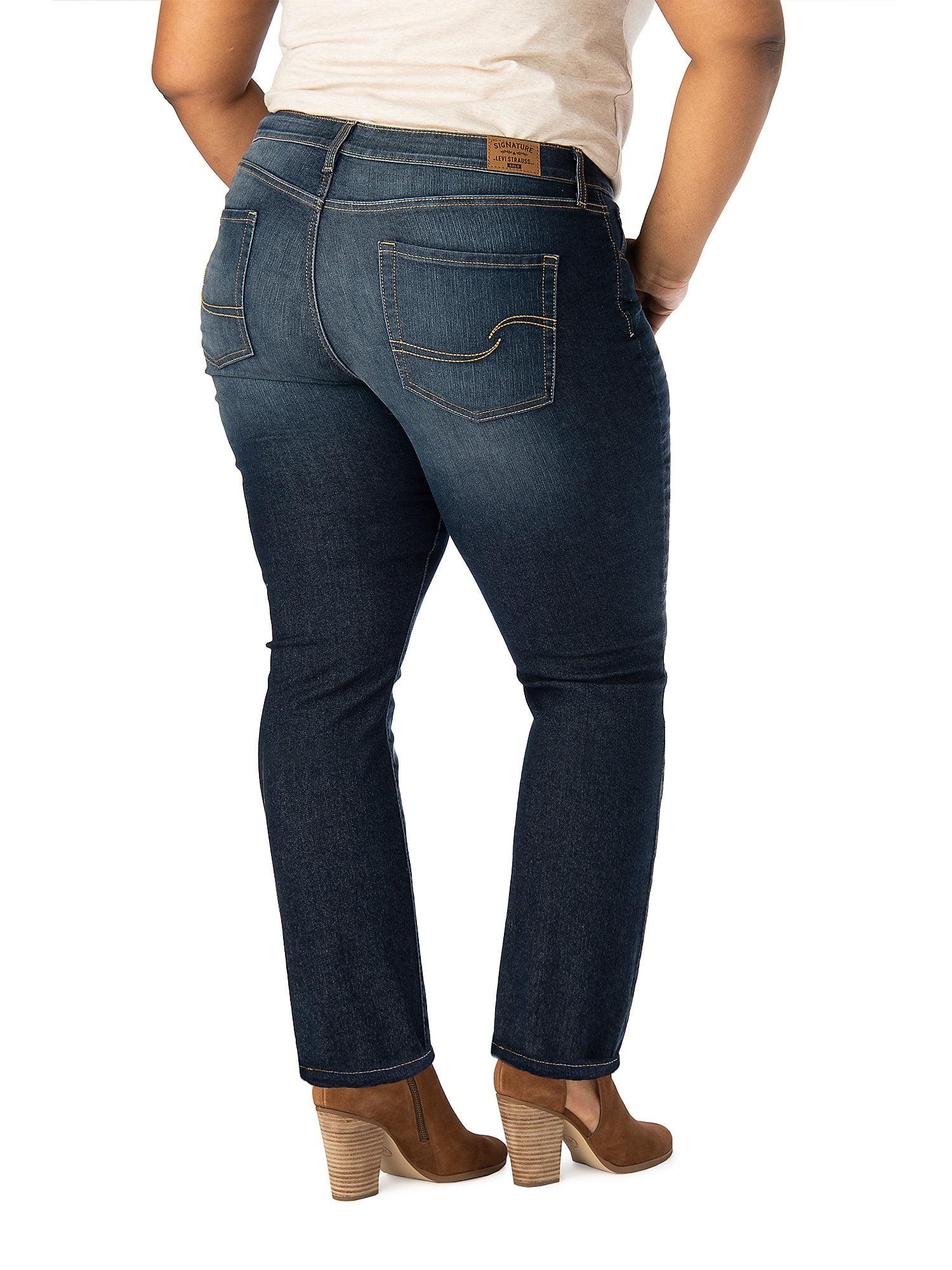 b94d6cee Signature by Levi Strauss & Co. Women's Modern Straight Jeans - Walmart.com