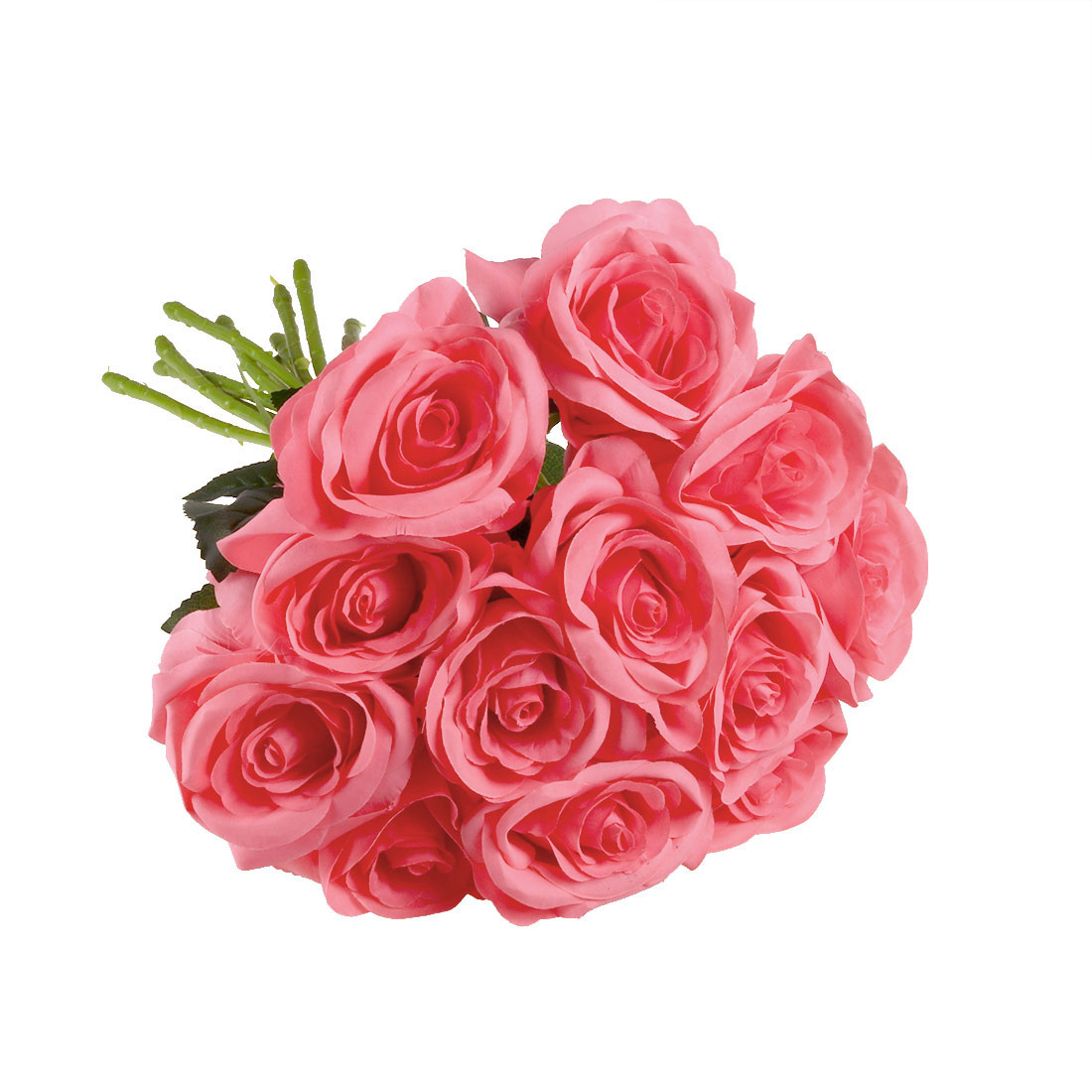 Artificial Silk Vintage Rose Flowers Bouquet Wedding Home Decoration