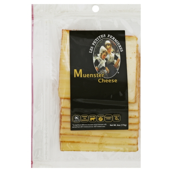Les Petites Fermieres Sliced Muenster Cheese, 6 Oz.