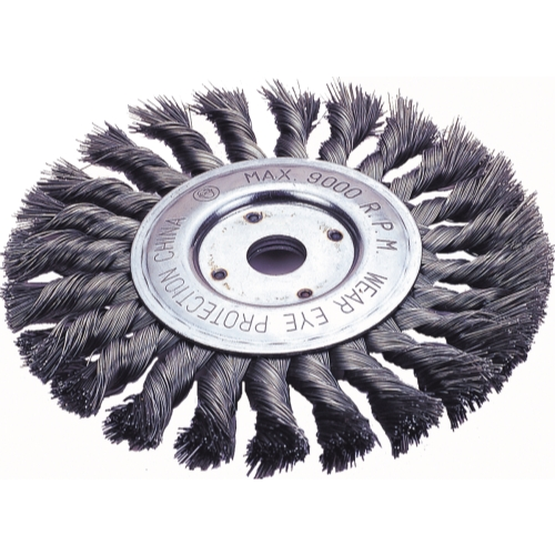 "Firepower 1423-2113 Wheel Brush 4"" Knot. Wire"