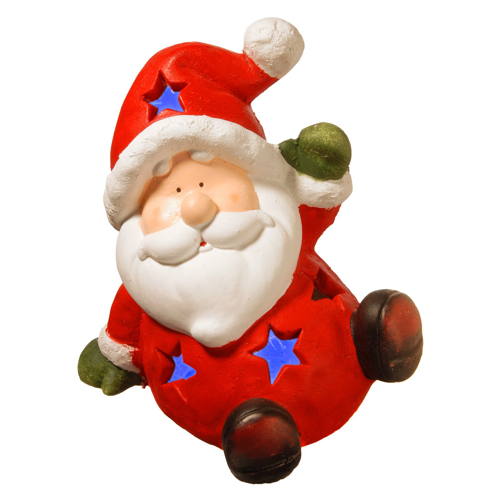 "13.4"" Lighted Holiday Santa Decor by National Tree"