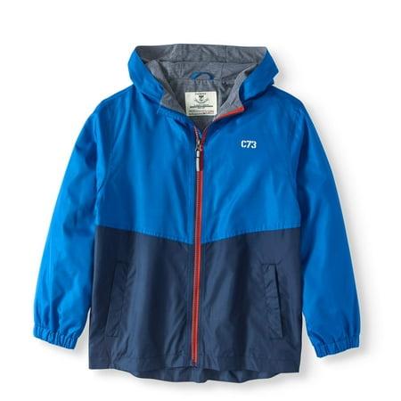 Boys' Hooded Winderbreaker Lightweight Jacket - Boy Leather Jacket
