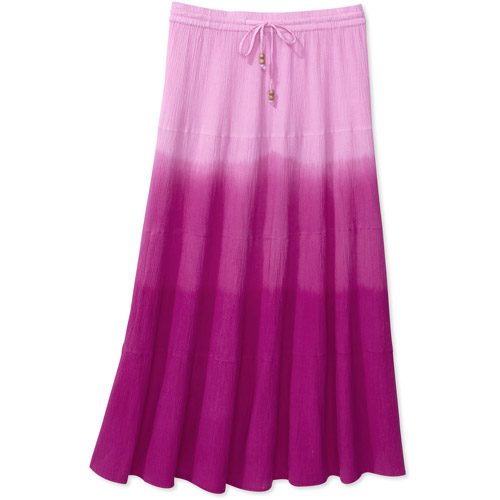 Faded Glory Women's Plus-Size Crinkled Guaze Maxi Skirt