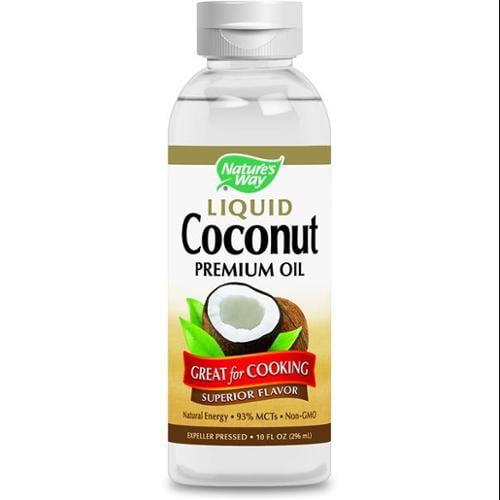 Liquid Coconut Premium Oil Nature's Way 10 oz Liquid