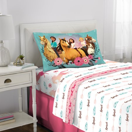 Spirit Riding Free 3Pc Sheet Set, Twin, Kids Bedding, Giddy Up