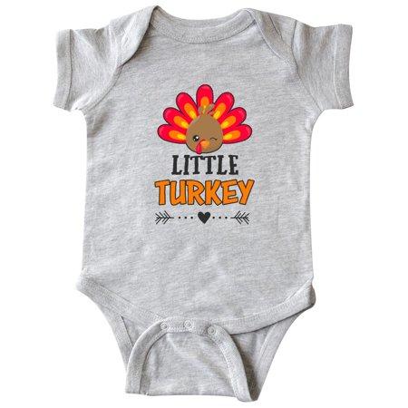 Little Turkey with Turkey Head and Arrow Infant Creeper - Printable Creeper Head