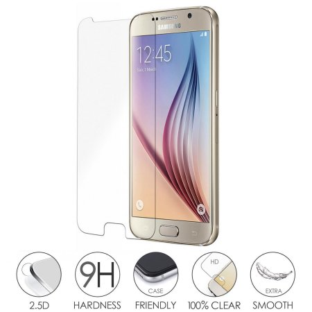 2-Pack of Tech Express HD Shatterproof Tempered Glass Screen Protectors for Samsung Galaxy S6