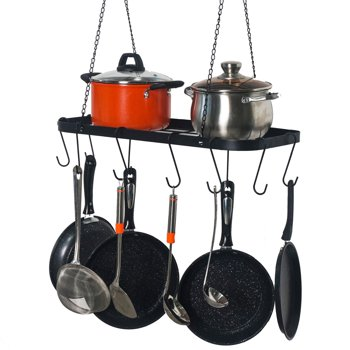 THINGLE INC. Pot Rack Ceiling Mount Cookware Hanging Hanger