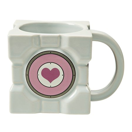 Portal 2 Companion Cube Ceramic Mug, Officially licensed by Portal 2; designed and created by JINX By Trolls Ship from US - Portal Companion Cube