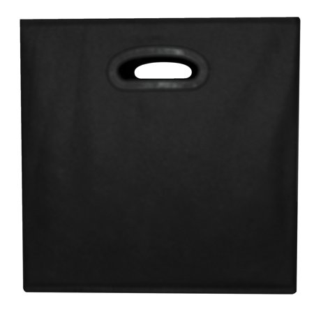 School Smart Collapsible Storage Bin With Oval Grommet  Fabric  Black