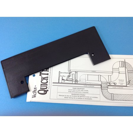 VacPan Trim Plate for Central Vacuum Systems BLACK. A Dustpan to your Built in (Average Cost To Install Central Vacuum System)